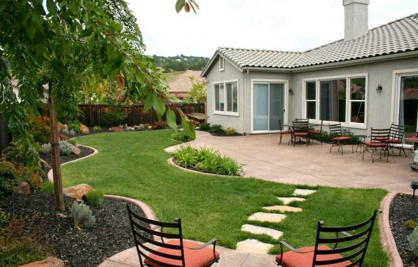 Дизайн двора частного дома: правила создания уникального дизайна оформления в частном доме