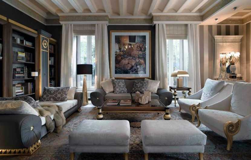 Интерьер гостиной — 160 фото модных идей украшения гостиной стильными элементами интерьера