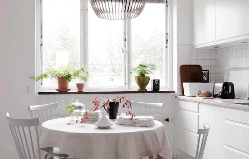 Круглый стол на кухню — самые практичные вариантов и классные идей по размещению круглого стола