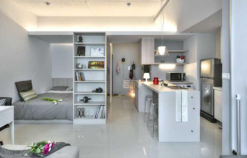 Спальня-гостиная: реальный пример, как сочетать два интерьера. Фото готового дизайна и новинок 2020 года