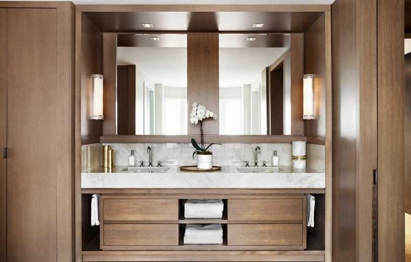 Тумба в ванную комнату: фото модных интерьерных решений с использованием тумб разных видов