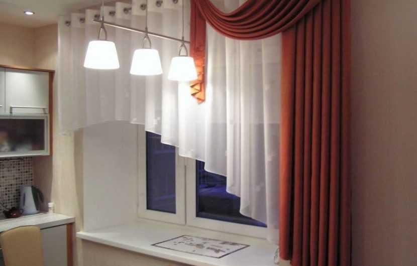 Занавески на кухню — 120 фото стильных идей применения занавесок в современных интерьерах